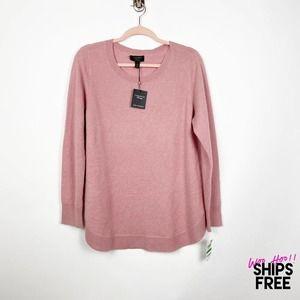 Charter Club Bella Rose Heather Sweater L #0995